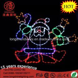 LED 90cm de corde de danse Silhouette Santa LED Lumière de Noël