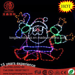 Conduziu 90 cm Silhouette Dançar Santa Corda Luz de Natal de LED