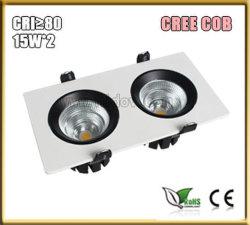 CRI>80/90 10-15W*2 LEDのグリルLight/LEDの格子ライト/Grille Downlightか中国製グリルライト