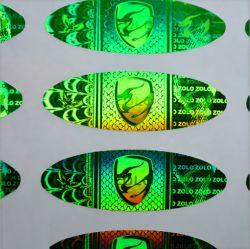 La conception personnalisée Anti-Counterfeiting laser holographique étiquette adhésive en vinyle PVC autocollant hologramme