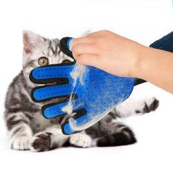 Luva de modelagem de gato para gatos pêlos de animais Deshedding luvas de lã pente escova para limpeza de cães de estimação Luvas Luva de Massagem para os animais