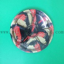 6 compartiment imprimé floral ronde Sushi Bac en plastique jetables