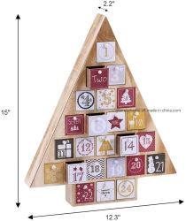2020 pour les enfants de la nature Forme d'arbre en bois compte à rebours de Noël Calendrier de l'Avent