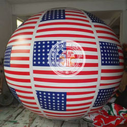 Индивидуальные конструкции каркасных надувных шаров флага рекламы, Airship гелий круглая насадка для взбивания