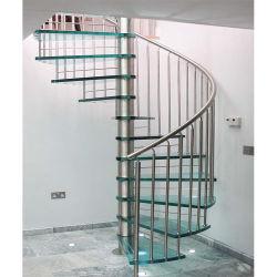 유리제 단계 스테인리스 나선형 계단