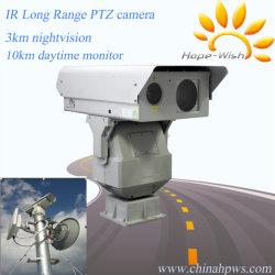 10 Km de largo rango de visión nocturna PTZ cámara láser infrarrojo