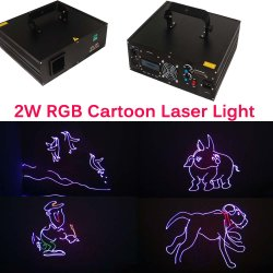 2 ВТ RGB для использования вне помещений DMX мультфильм анимация DJ Disco лазерные приборы освещения