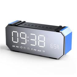 Dg100 Alarmuhr-Radiolautsprecher-Freisprechaufruf des Spiegel-LED Bluetooth 4.2 mit FM/Time Bildschirmanzeige