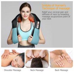 Viqee Elektrische Hals-Massagegerät U Typ Shawl Infrarot Akupunktur Kneten Schulter Heizung Massage Shiatsu Auto Startseite Entspannen Gesundheit Care