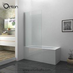 Bañera plegable de cromo de plegado de la mampara de ducha paneles de puerta