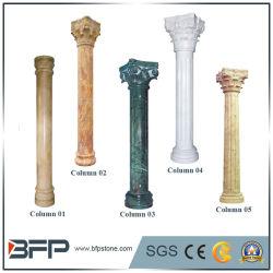 Polido elegante/ aperfeiçoou/ metade em mármore e granito natural do pilar da coluna