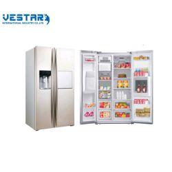 ミニバーとディスペンサーディスプレイ付きの冷蔵庫を並べてお使いいただけます 冷蔵庫、ミニ冷蔵庫、ワインと二重ガラスのドア、縦型の展示 冷蔵庫