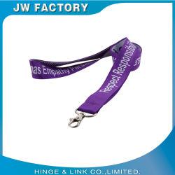 Jw Jacquard longes Logo tissé cou sangles avec logo personnalisé avec les détenteurs de carte