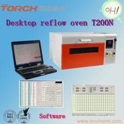 A SMT Tamanho Mini Bancada Forno de refluxo isento de chumbo/Table Pequenas Reflow forno/SMT forno portátil T200N