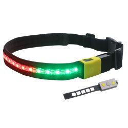 Аккумулятор USB сигнальная лампа поясной ремень с помощью пульта дистанционного управления для запуска, в нескольких минутах ходьбы, бега и регулируемый диапазон подходит для мужчин, женщин и детей