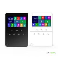 Interphone vidéo Téléphone Sonnette de Porte de sécurité à domicile de l'enregistreur vidéo du système d'Interphone avec 4,3 pouce