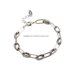 Braccialetto d'argento d'ottone d'acciaio poco costoso all'ingrosso dei monili per i monili Chain cubani di modo di Hip Hop dell'argento sterlina degli uomini 925 della donna