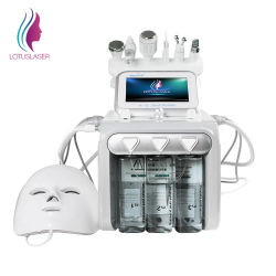 2021 Meilleure vente de l'eau jet d'oxygène Peel Terminal 6 à 1 de l'oxygène facial de nettoyage en profondeur de la machine