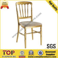 Golden Coussin de chaise Napoléon fixe en aluminium