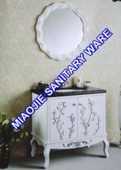 85см старинной цельной древесины дуба туалетный столик в ванной комнате (MJ-423)