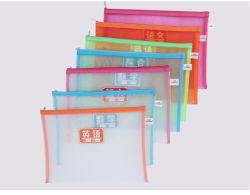 Sacchetto trasparente dell'archivio della chiusura lampo del PVC della plastica dell'OEM