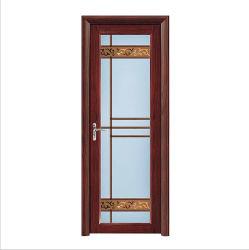 L'Aluminium Verre dépoli Casement porte des toilettes/douche Chambre/raccord /Porte battante en verre avec verrou de sécurité