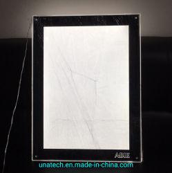 아크릴 수정같은 호리호리한 가벼운 상자를 광고하는 최고 가격 LED Indoo