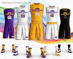 La stampa Lakers di sublimazione asciuga il pullover adatto di pallacanestro di Los Angeles