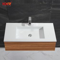Acrylsteinharzmatt-Oberflächenbadezimmer-einzelnes Wannen-Wäsche-Schrank-Bassin