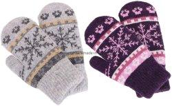 Mens Sade Inverno luvas de croché padrões Jacquard Luvas tricotadas quente sem dedos