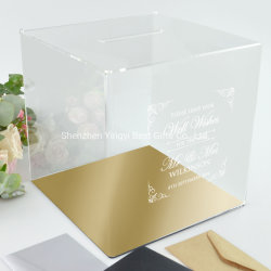 La fábrica de acrílico mayorista Tarjeta de boda caja, caja de regalo