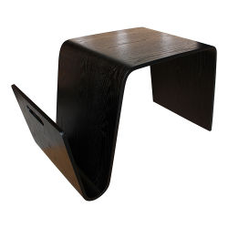 Гостиная орех шпона Bentwood небольшой стол со стороны