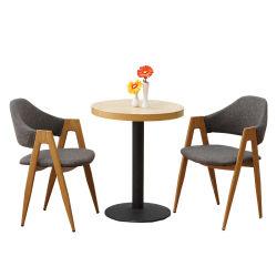 Vorausbestellter Hotel-Möbel-Glasstahlhölzerner moderner Tee-Steintisch