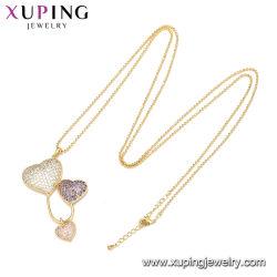 Le charme de la mode de gros de la chaîne de perles en Cristal Lettre initiale roi Reine amant Couples Collier pendentif Bijoux