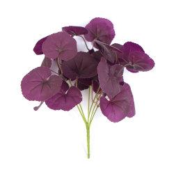 Diseño personalizado de color púrpura 28cm Tejido Artificial Spray para la decoración de boda