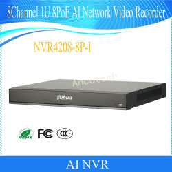 La Inteligencia Artificial Dahua 8Canal 1u 8poe Ai Network Video Recorder (NVR4208-8P-I)