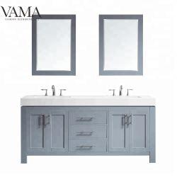 Vama 72 polegada de água Tripé double sinks banheiro armário de toucador 763072 Móveis
