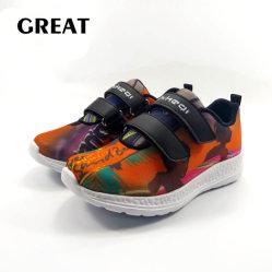 Greatshoe Großhandelskind-Turnschuh EVA-Sohlen, kundenspezifisches Firmenzeichen-laufende Kind-Sport-Schuhe des Drucken-3D