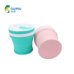 O logotipo personalizado Copo dobrável de Silicone Colapsáveis Cup para a promoção dons