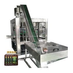Máquinas de la fábrica de cocción de comestibles de llenado de aceite de girasol refinado equipo tapado
