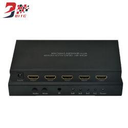 4 Entrada 1 HDMI salida 4X1 Quad Multi-Viewer Switcher modo 1080P de 5