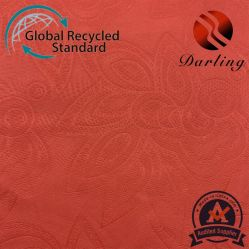 2,5 m de color naranja auspiciosa Flor de Loto patrón para el hogar ropa de cama textil de tela de reciclaje de RPET