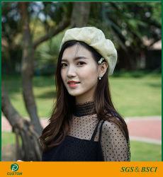 Nouveau design Fashion Printemps et été femmes brillantes Beret Hat