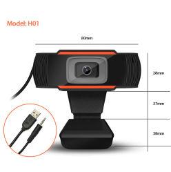 De zwarte Laptop 1080P HD Interne Microfoon van de Computer van Webcam van de Camera USB