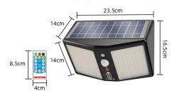 2021 nieuwe zonneverlichting voor buiten 360 LED met lichtreflector Bewegingssensor-beveiligingslampen IP65 Waterproof Solar aangedreven voor tuin Patio Yard