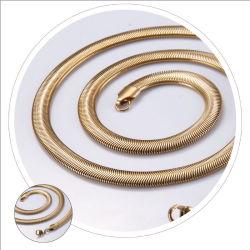 Accessoires de Mode 18K plaqué or Bijoux Collier Chaîne serpent plat pour la conception de bijoux