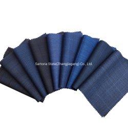 Top Quality 100% lana tessuto in lana blu/nero tessuto su misura per a. Tuta da lavoro