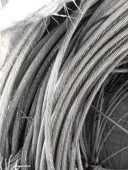 La pureté de 99,9 % d'aluminium sur le fil de mise au rebut en aluminium de couleur argentée nettoyer