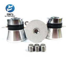 28K/40K o transdutor de ultra-sónico piezoeléctrico de alta eficiência para limpeza de superfícies 100W vibrador transdutor de ultra-sons