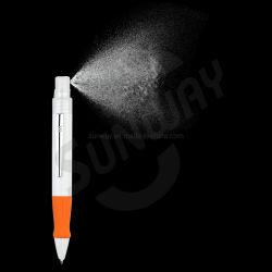 Nuova penna spray aziendale personalizzata di grande capacità bianca con igienizzatore